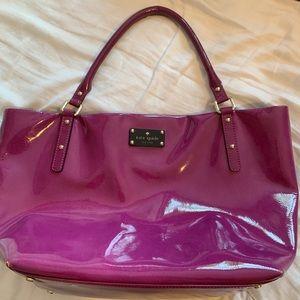 Kate Spade Fuchsia Patent Leather Bag. BARELY USED
